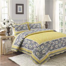 厂家批发浦江绗缝被 夏季纯棉印花绗缝三件套四件套床盖空调被子