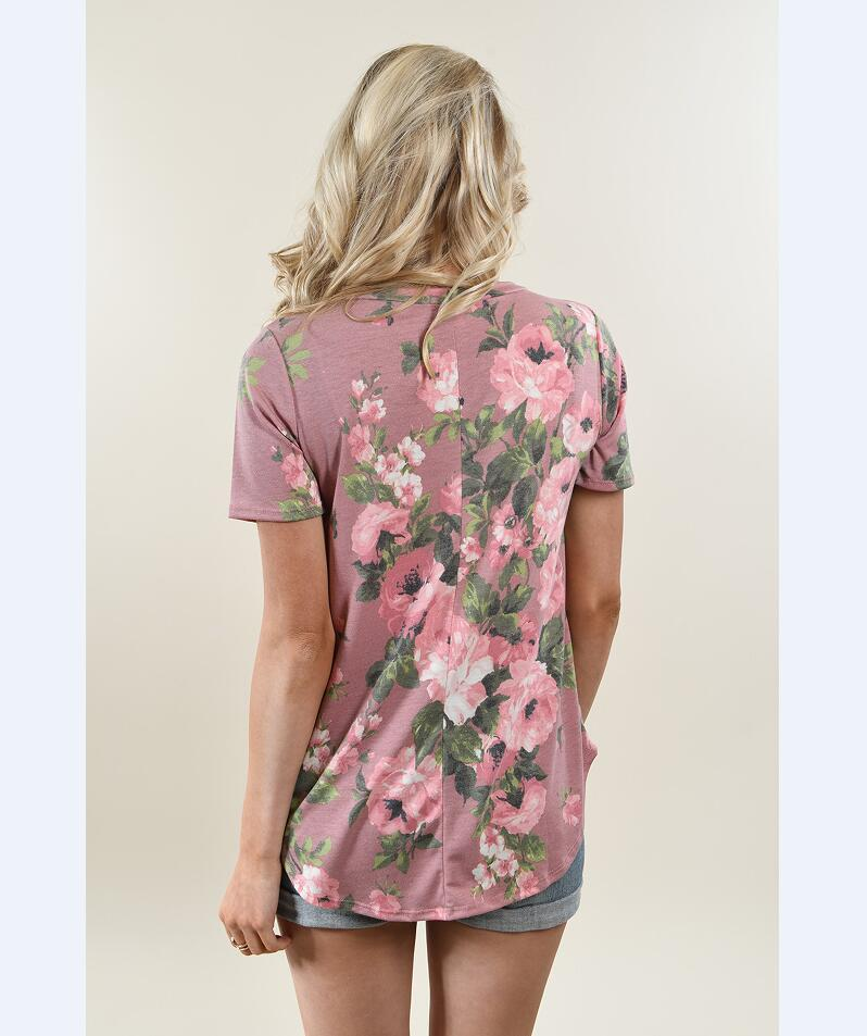 Occident and the United States Polyester printing and dyeing Female dress (Pink-xL)NHYF1309-Pink-xL