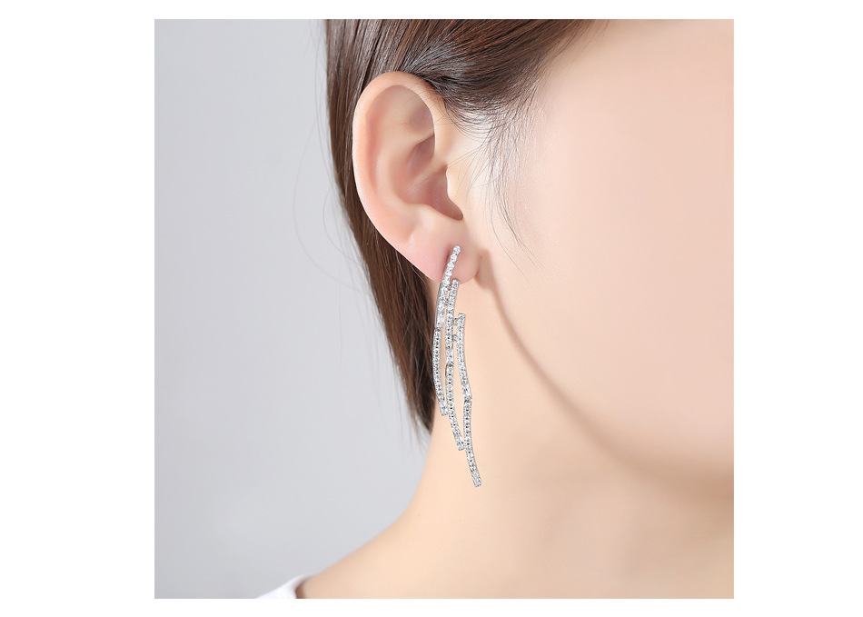 Alloy Fashion Geometric earring  (Platinum-T08I04) NHTM0556-Platinum-T08I04