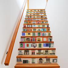 Funlife 创新装饰仿真窗户 家庭客厅卧室楼梯 翻新墙贴FS056