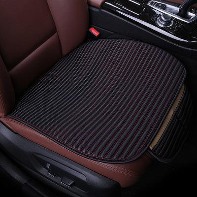 批发DLS直条小三件汽车坐垫 棉麻四季垫新款高档座垫内饰用品饰品