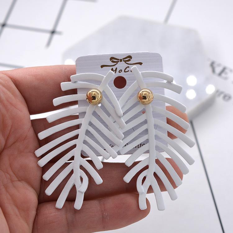 Fashion Alloy plating earring Geometric (white)  NHNT0411