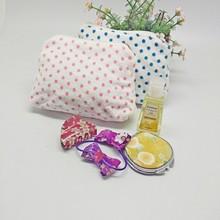 化妝包 #A-06 日系全棉割絨毛巾拉鏈包 點點收納小包