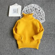 清清美目不加绒爆款韩版冬款儿童毛衣女童高领套头毛衣一件代发