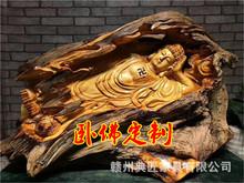 福建根雕厂家卧佛之万佛朝宗崖柏雕刻释迦摩尼佛如来佛木雕摆件