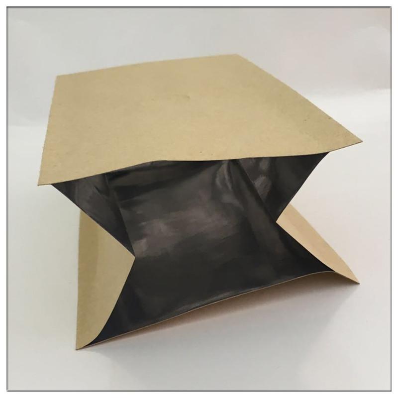 现货牛皮纸镀铝膜四边封风琴袋 牛皮纸铝箔袋 食品医药包装袋厂家