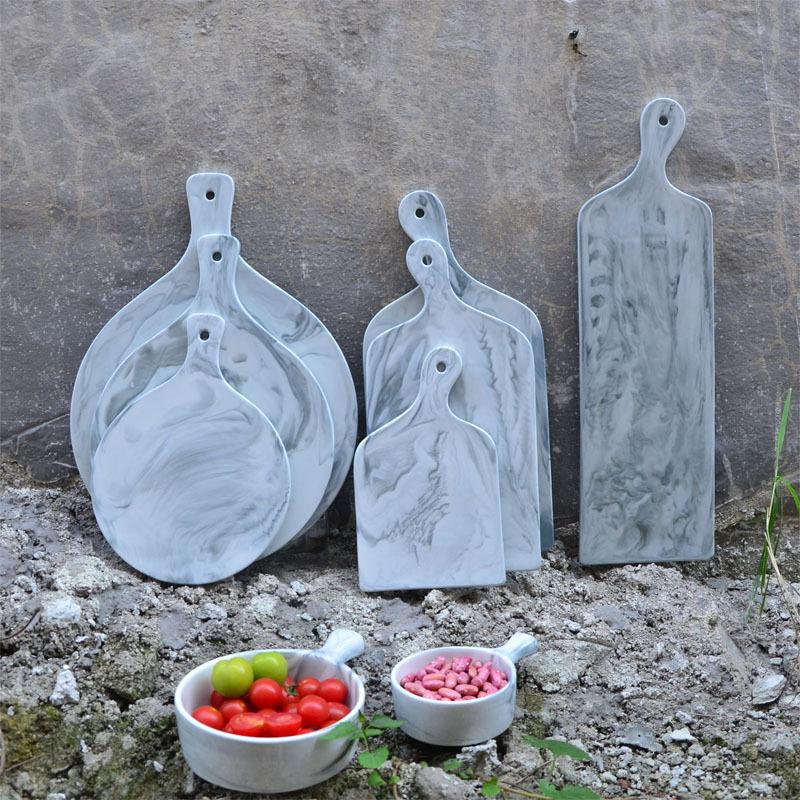 陶瓷创意大理石纹盘 蛋糕点心盘欧式长方圆形牛排盘平板盘