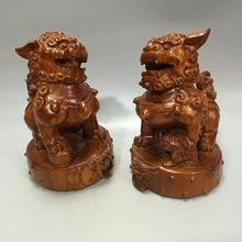 非洲花梨木雕刻 獅子擺件對獅守門獅 草花梨實木工藝品 鎮宅裝飾