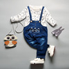 In the spring of 17 Korean boys and girls jeans Bib bib overalls manufacturers wholesale boutique in children