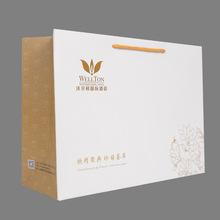 厂家生产定做白卡纸袋手提袋定制白色广告包装袋 烫金袋子