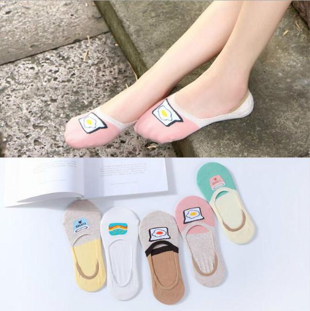 2018夏季新款女袜子  纯棉女士船袜 防滑硅胶隐形女袜 休闲短款袜