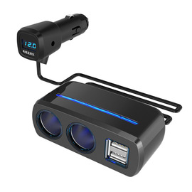 Auto Accessories Converse with voltage detection dual USB one minute two cigarette lighter Car charger SD-1928C