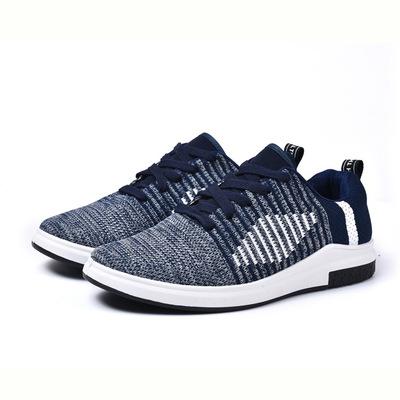 Mùa xuân người đàn ông mới của tuổi Bắc Kinh lưới giày ren thể thao giản dị giày bay dệt thể thao thoáng khí giày chạy giày nam