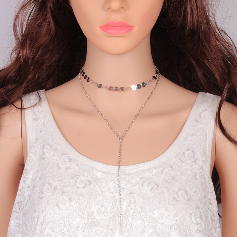 Korean version alloy plating necklace (Silver)NHJQ9273-Silver