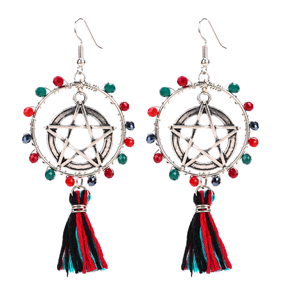 Occident and the United States alloy plating earring (color)NHJE0513-color