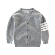 童裝秋款男童毛衣批發 V領中小童長袖寶寶外套英倫風兒童毛衫線衣