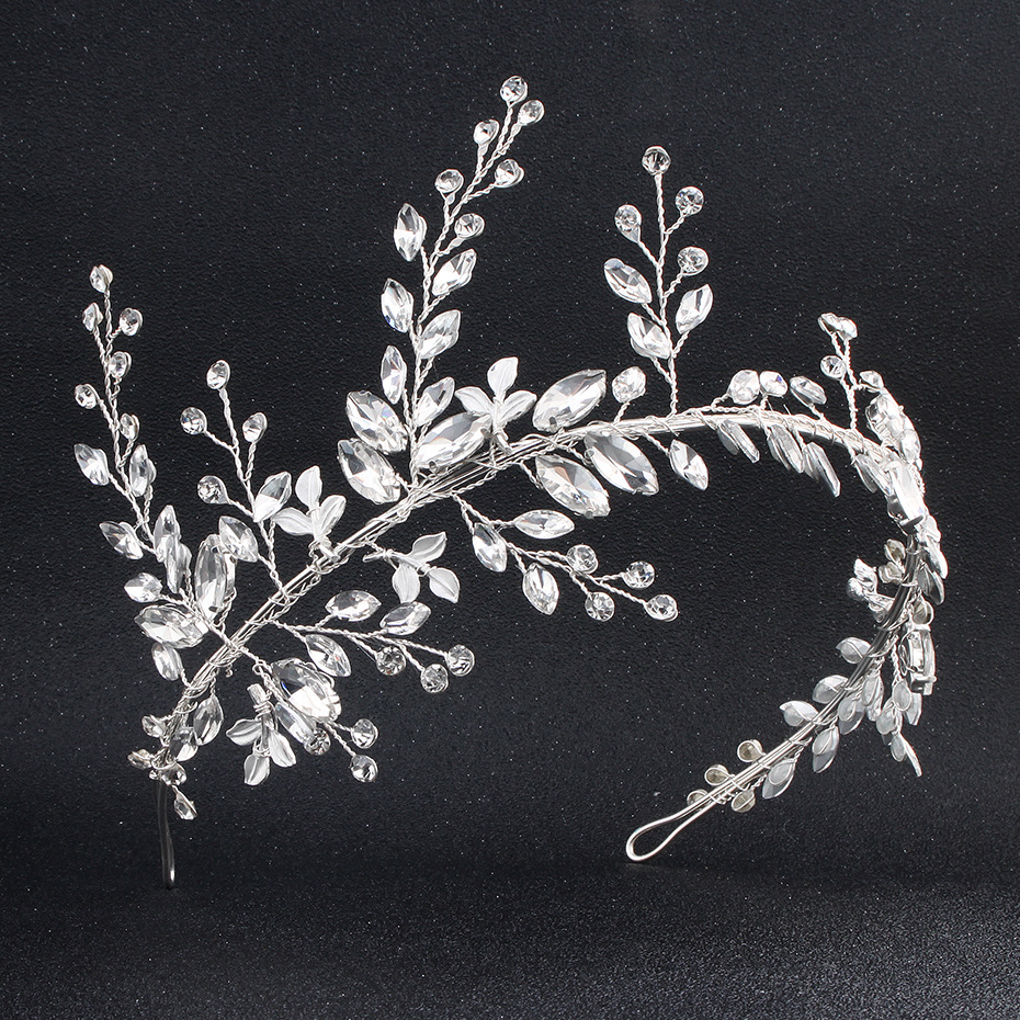 Imitated crystal&CZ Fashion Flowers Hair accessories  (Alloy) NHHS0077-Alloy