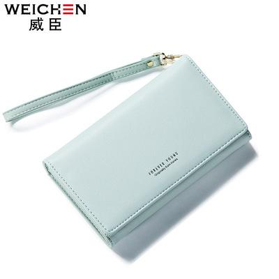 Thời trang Nhật Bản và Hàn Quốc phiên bản của ví nữ dài đơn giản ví khóa sinh viên ví Joker ly hợp túi dây kéo túi điện thoại di động