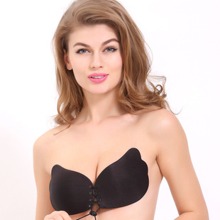 Breathable wings pull pull goddess invisible underwear no steel ring chest sticker drawstring silicone invisible bra