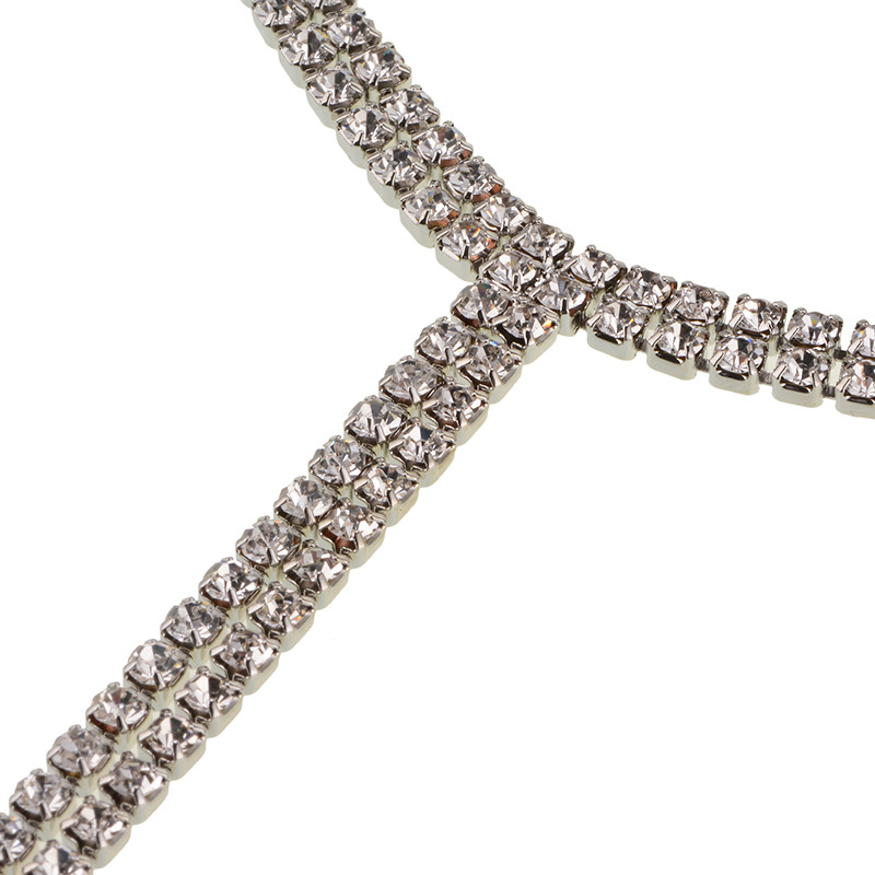 other alloy Diamond necklace (Silver)NHYT0538-Silver