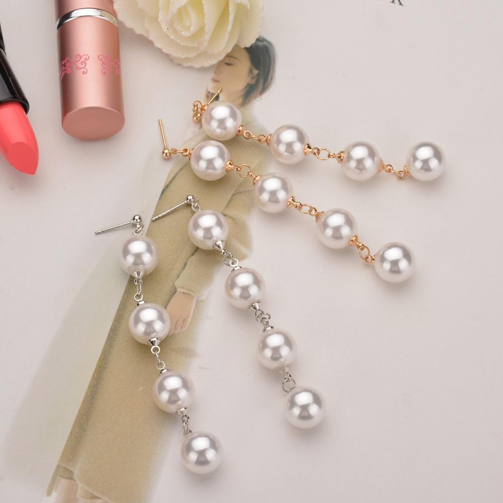 Korea style pearlearring (Silver)NHBQ0977-Silver