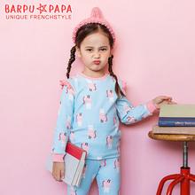 韩国童装可爱韩范童家居服套装纯棉舒适儿童内衣两件套外贸睡衣