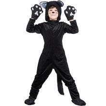 COS 萬聖節化妝舞會 動物黑貓表演服 兒童貓咪服裝 童裝舞台服
