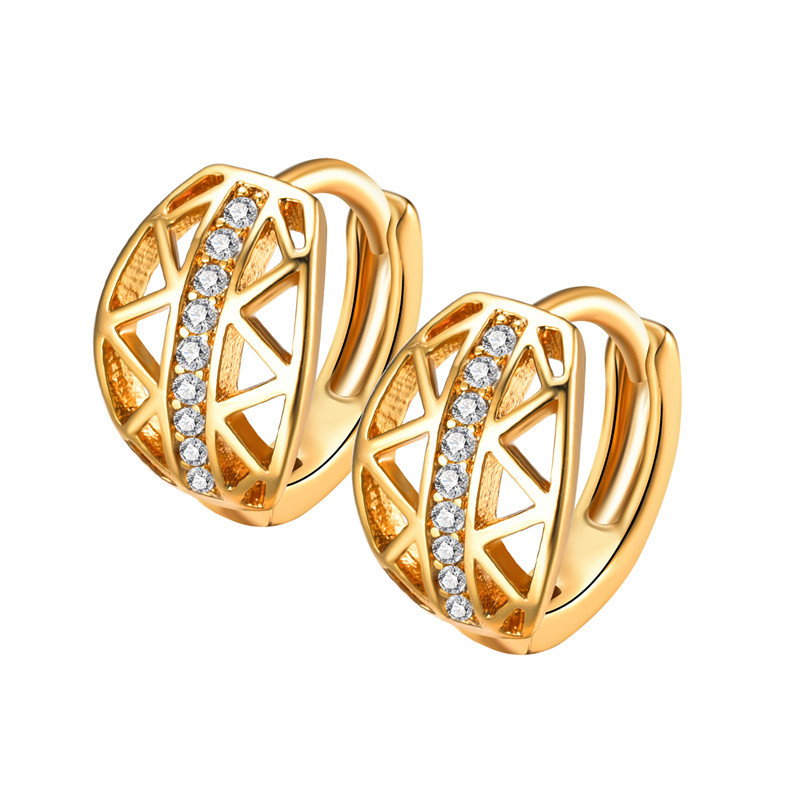 Star with the money metal plating earring (A pair of gold)NHIM0897-A pair of gold