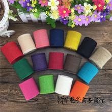 厂家直销彩色织带麻布卷家居家纺装饰麻布缎带新款麻绳编织织带