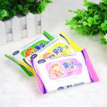 婴儿湿纸巾10片便携式手口专用滋润清洁儿童润肤湿巾无香型批发