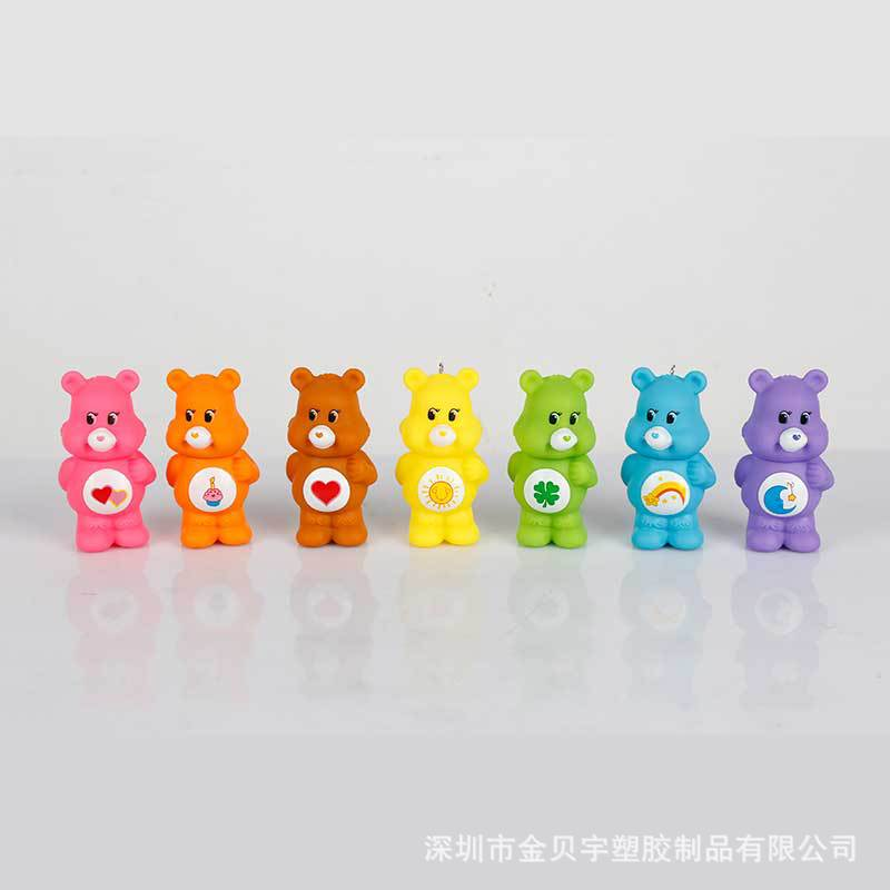 七彩虹熊rainbow bear爱心熊12款carebears公?#24515;?#27833;DIY微景观摆件