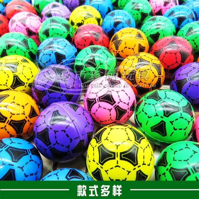 32混装弹力球单品世界杯i扭蛋机 发光跳跳球扭蛋球 弹力球批发