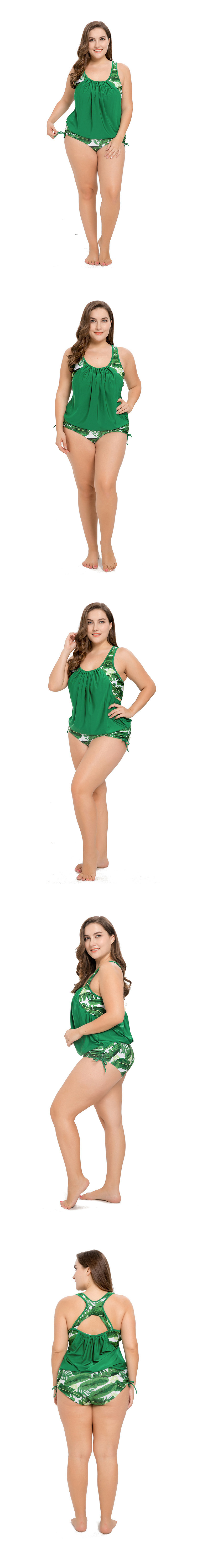 Polyester Fashion  Large size swimsuit  (Picture color -XL) NHHL0499-Picture-color-XL