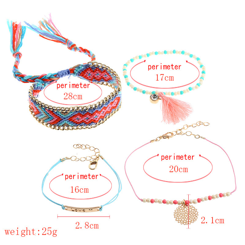 Occident and the United States alloy Diamond Jewelry Set (Mixed color)NHNNZ3024-Mixed color