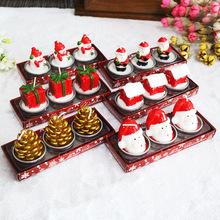 圣诞工艺礼品蜡烛彩绘装饰圣诞礼物情人节表白求婚道具  不会掉出
