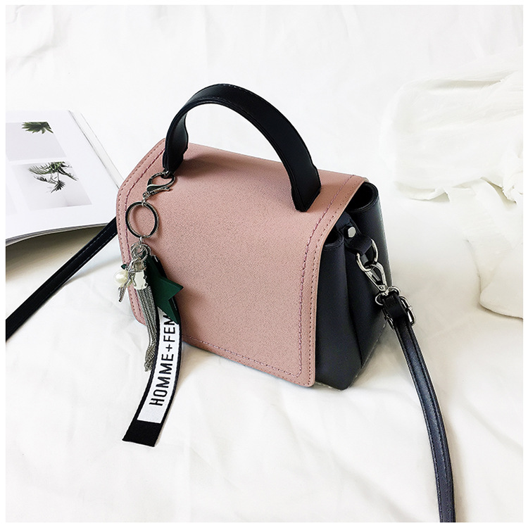 Korean version PUfashion bag (Pink)NHPB0091-Pink