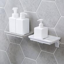 新品粘贴浴室置物架厕所壁挂架子厨房免打孔收纳架卫生间洗漱架