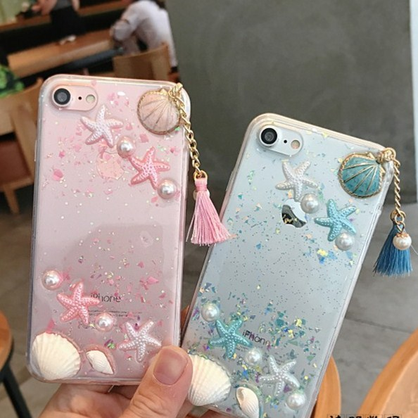 Shell glitter tassel apple Xs max iPhone8/6/6s/plus silicone XR glue three-dimensional shell XS