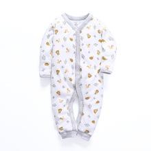 男女宝宝新生儿包脚包屁衣哈衣秋装棉长袖爬服连体衣