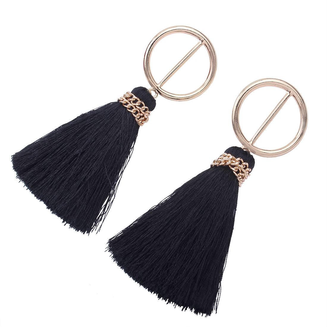 Occident and the United States alloy plating earring (black)NHNMD3787-black