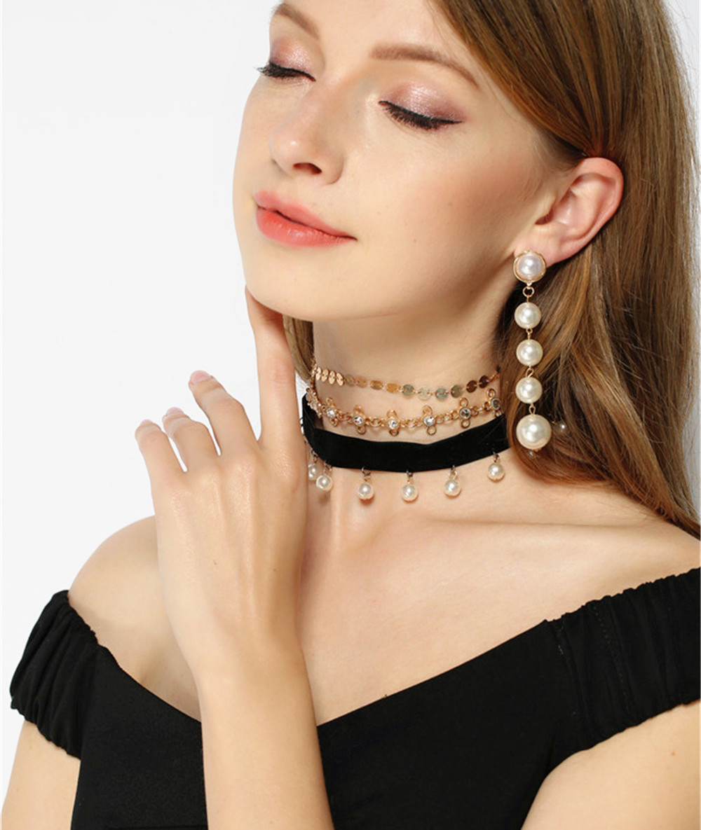 Fashion Beads Alloy Flower Set Necklace NHXR134013