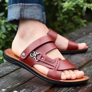 ស្បែកជើងបុរស Men Casual Sandals Open Toed Trend Slippers Shoes PZ320153