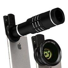 逢源手機外置攝像頭18倍長焦鏡頭0.6倍廣角微距三合一手機鏡頭