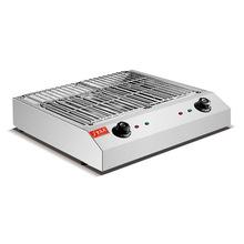 长方形无烟迷你户外商多功能家用烤肉机烧烤炉摆摊不锈钢电烤炉