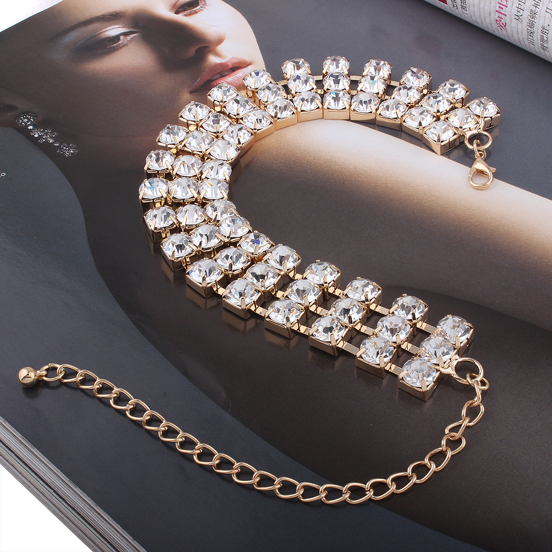 Occident and the United States alloy plating Necklace (Imitation k)NHNMD3779-Imitation k