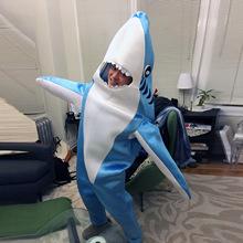 行走鲨鱼扮演服装 cosplay鲨鱼道具 成人人偶舞台表演服一件代发