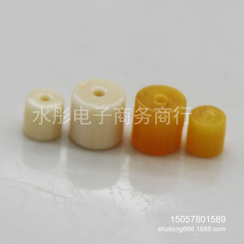 厂销仿象牙蜜蜡直角圆柱形隔珠桶珠DIY饰品配珠批发