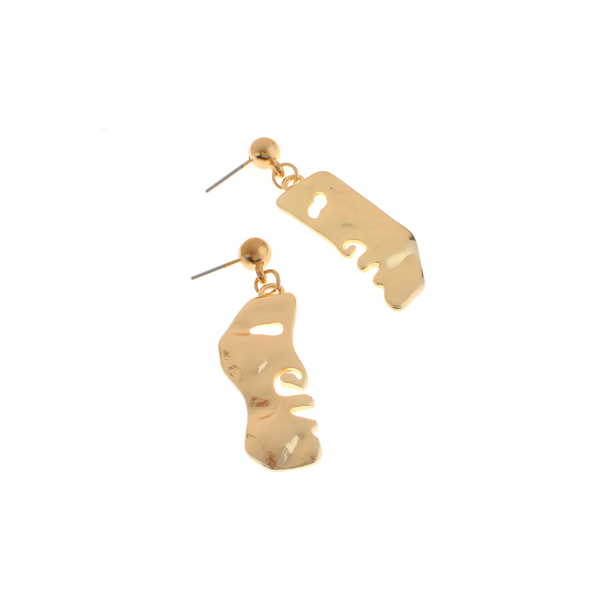 Occident and the United States alloy plating earring (B0698 gold)NHXR1442-B0698 gold