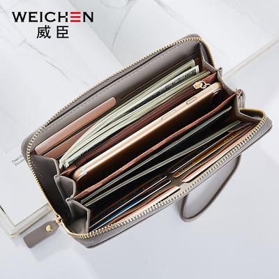 Weissin dài ví đa thẻ túi xách tay thời trang Hàn Quốc ly hợp dây kéo đa chức năng ví điện thoại di động