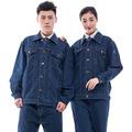全棉牛仔男女套装加厚工作服 电焊焊工服 电工服 厂服订制批发